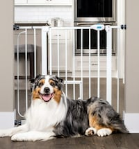 Carlson Extra Wide Pet Gate, with Small pet Door Toronto