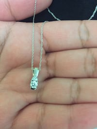 White Gold Diamond Necklace Brampton