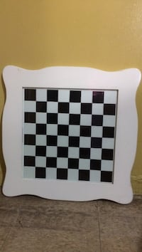Big White and black chess board.