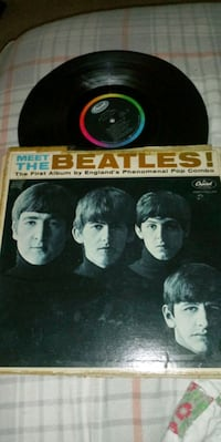 1964 Meet The Beetles framed album cover and record