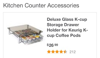 Keurig Coffee pod tray for counter