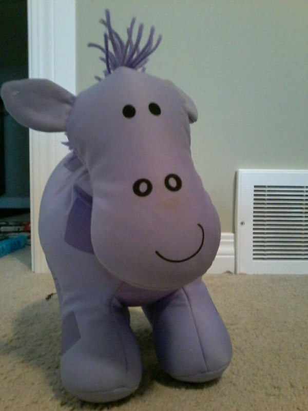purple animal plush toy
