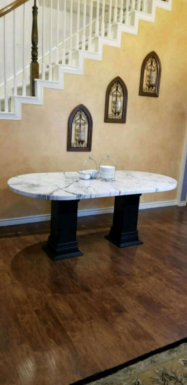 Faux Marble Table 6ft X 3ft