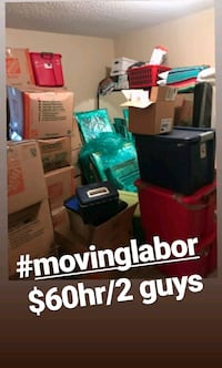 Local moving labor $60hr/2 guys Minneapolis