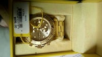 round gold chronograph watch with link bracelet Cobourg, K9A 4J8