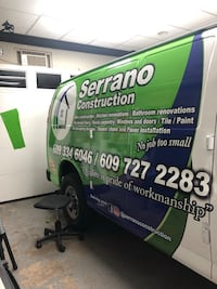 wrap graphics for commercial van Clifton
