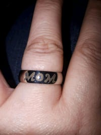 Stainless Steel Mom ring size 8. 10