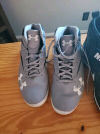 Basketball shoes and football cleats