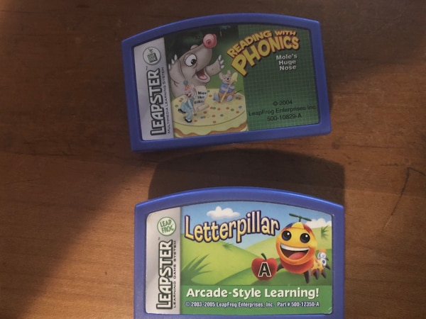 Two leapster game Cartridges only. Leterpillar & Reading with Phonics