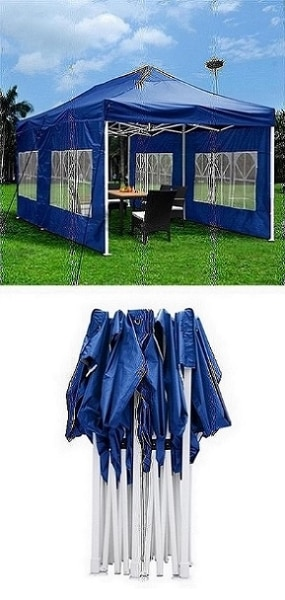Used New $190 Heavy-Duty 10x20 Ft Outdoor Ez Pop Up Party Tent Patio Canopy w/Bag u0026 6 Sidewalls Blue for sale in South El Monte - letgo  sc 1 st  LetGo & Used New $190 Heavy-Duty 10x20 Ft Outdoor Ez Pop Up Party Tent Patio ...