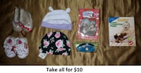 0-3 Mths Girl Hats, Shoes, Accessories Lot 1 (Take all for $10) Mississauga