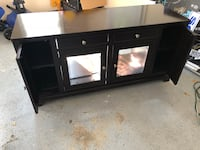 Black wooden framed glass cabinet Leesburg, 20176