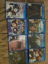 Negotiable Sony PS4 games 9 games Arthur, N0G 1A0
