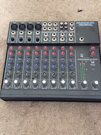 Black mackie audio controller