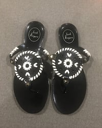 black-and-white floral sandals Falls Church, 22041