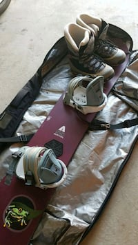 Burton snow board A55 bag and boots size 11.  Gainesville, 20155