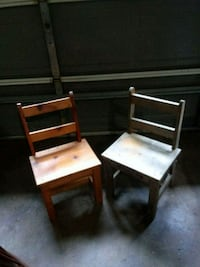 2 Small wooden chairs. Need refinished. Madison, 35757
