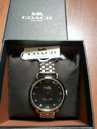 COACH Womens Delancey in Grey Stainless Steel Strp San Francisco County