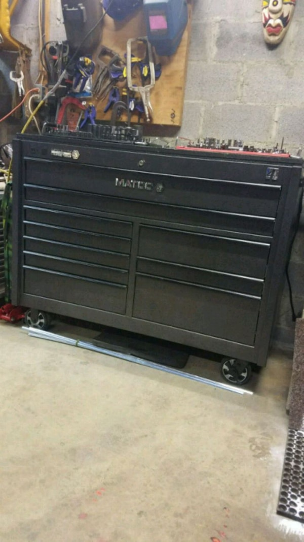 Matco 4s toolbox with outlets and USB plugs