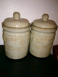 Vintage 2 Piece Canisters Mission, 78572