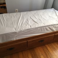 Twin storage bed with 3 drawers mattress included Falls Church
