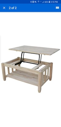 White wood unfinished coffee table with lift top Bakersfield, 93312