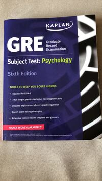 Kaplan GRE Psychology Subject Study Guide (brand new) Hackensack, 07601