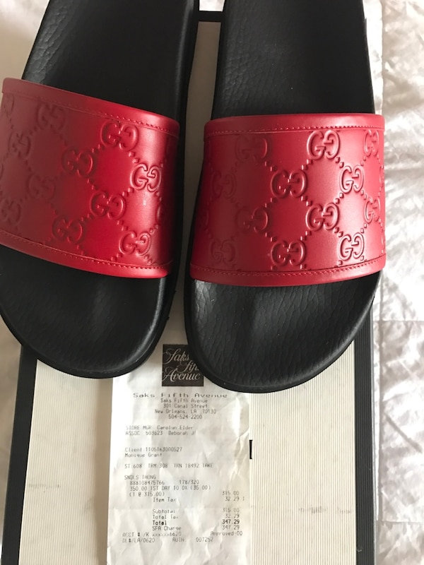 75a9938bb Used Saks Fifth Ave Gucci Slides BRAND NEW for sale in Dallas - letgo