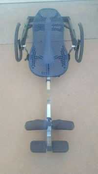 blue and gray stationary bike