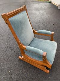 Antique upholstered rocking chair Oakton