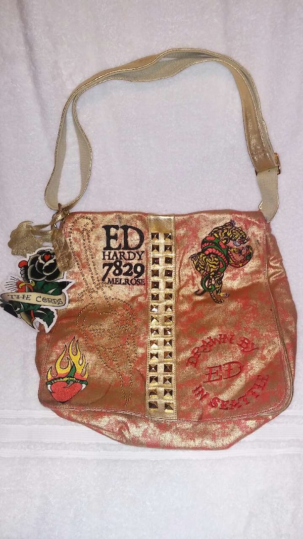 3af7c6b8cd4a Used PINK ED HARDY 7829 MELROSE AMERICAN BAG PURSE TOTE for sale in West  Sacramento