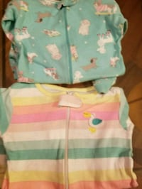 baby's white and teal onesie Greenville, 29605