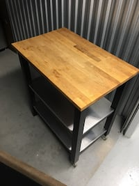 Stained Wood Utility Table! Toronto, M8V 3W6