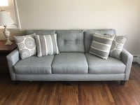 Blue grey living room sofa couch