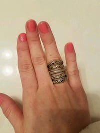 Cute stacked ring size 7