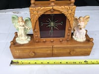 Wood Trinket box, angels, clock Ottawa, K1C 2V3