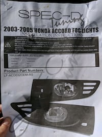 Honda Accord Foglights - 2003-2005 Washington, 20002