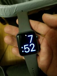 black and white smart watch