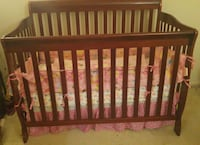 baby's brown wooden crib Falls Church, 22041