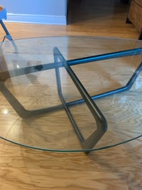 Mid-Century Modern Glass Top Coffee Table for Sale! North Bergen