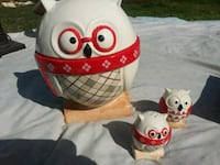 Red owl Cookie Jar with salt n pepper shakers Rocklin, 95677