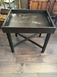 Two solid wood tray tables 多伦多, M1R 4J8
