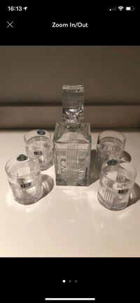 Vintage Crystal Decanter with glasses