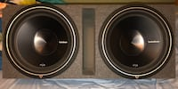 Two 15in Rockford Fosgate P3s + ported box + Audiopipe 1500w amp Iron Station, 28080