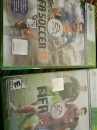 Fifa Soccer 13 and Fifa 15 Xbox 360 game casers