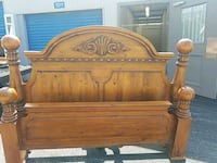 brown wooden headboard and footboard 72 km