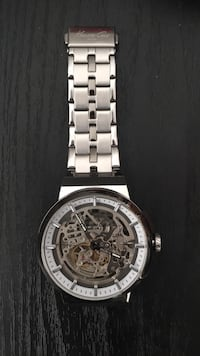 round silver-colored chronograph watch with link bracelet Sioux Falls, 57106