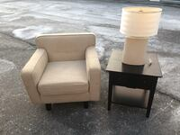 BEIGE COUCH SET (Side table/Lamp) - GREAT CONDITION - DELIVERY AVAILABLE Toronto, M1C 3A8