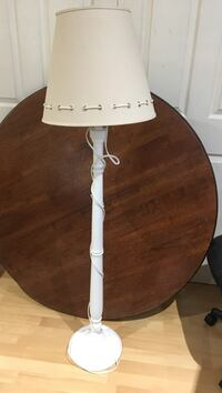 White base floor lamp with beige shade Fonthill, L0S 1E7