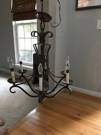 metal framed uplight chandelier 345 mi